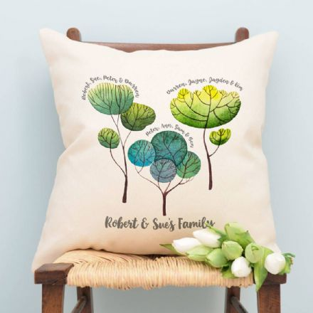 Personalised Multi Generation Family Tree Cushion